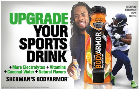 BODYARMOR Adds Richard Sherman to Roster of Athlete-Endorsers