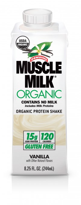 00751 REV01.04-13 Muscle Milk Organic 244mL Edge Tetra Pak - Vanilla