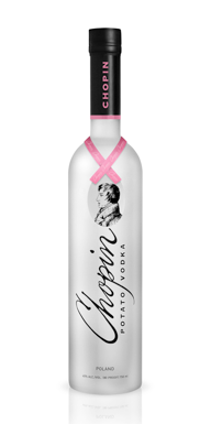 Chopin Vodka's Pink Ribbon Bottle