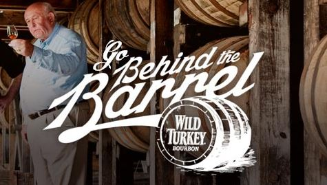 Wild Turkey Behind the Barrel