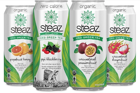 Steaz Adds Four New Flavors of Organic Iced Green Tea Beverages