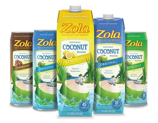 With Coconut Water Leading the Way, Zola Lands New Distribution in 2,600 Stores