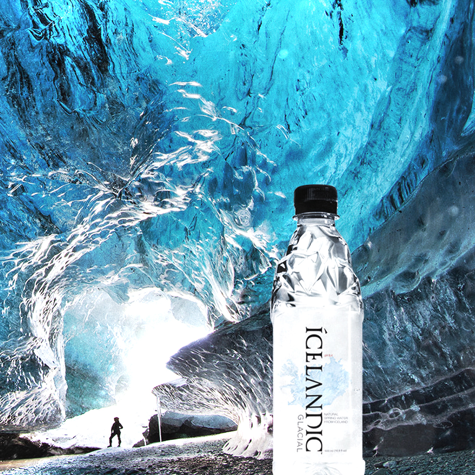 Icelandic Glacial Goes into Glass and Sparkling