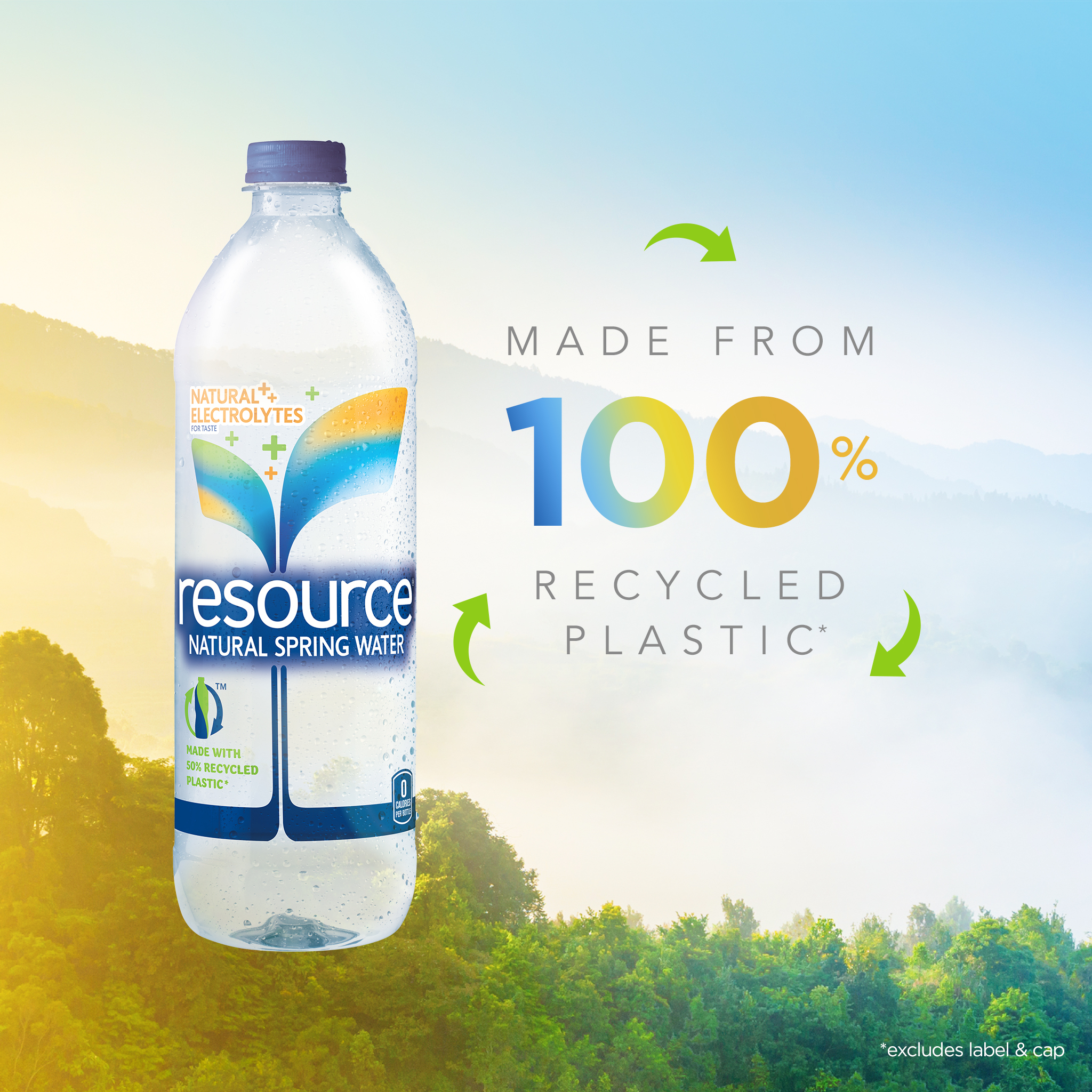 resource Water Debuts New Bottle Made with 100 Percent Recycled Plastic