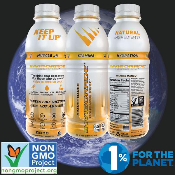 INVIGORADE Achieves Non-GMO Project Verification, Joins 1% For The Planet
