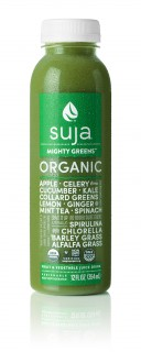 The updated label for Suja Mighty Greens