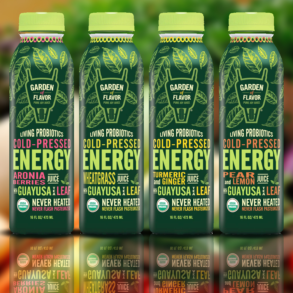 "Garden of Flavor Launches Line of ""Cold-Pressed Energy"" Juices"