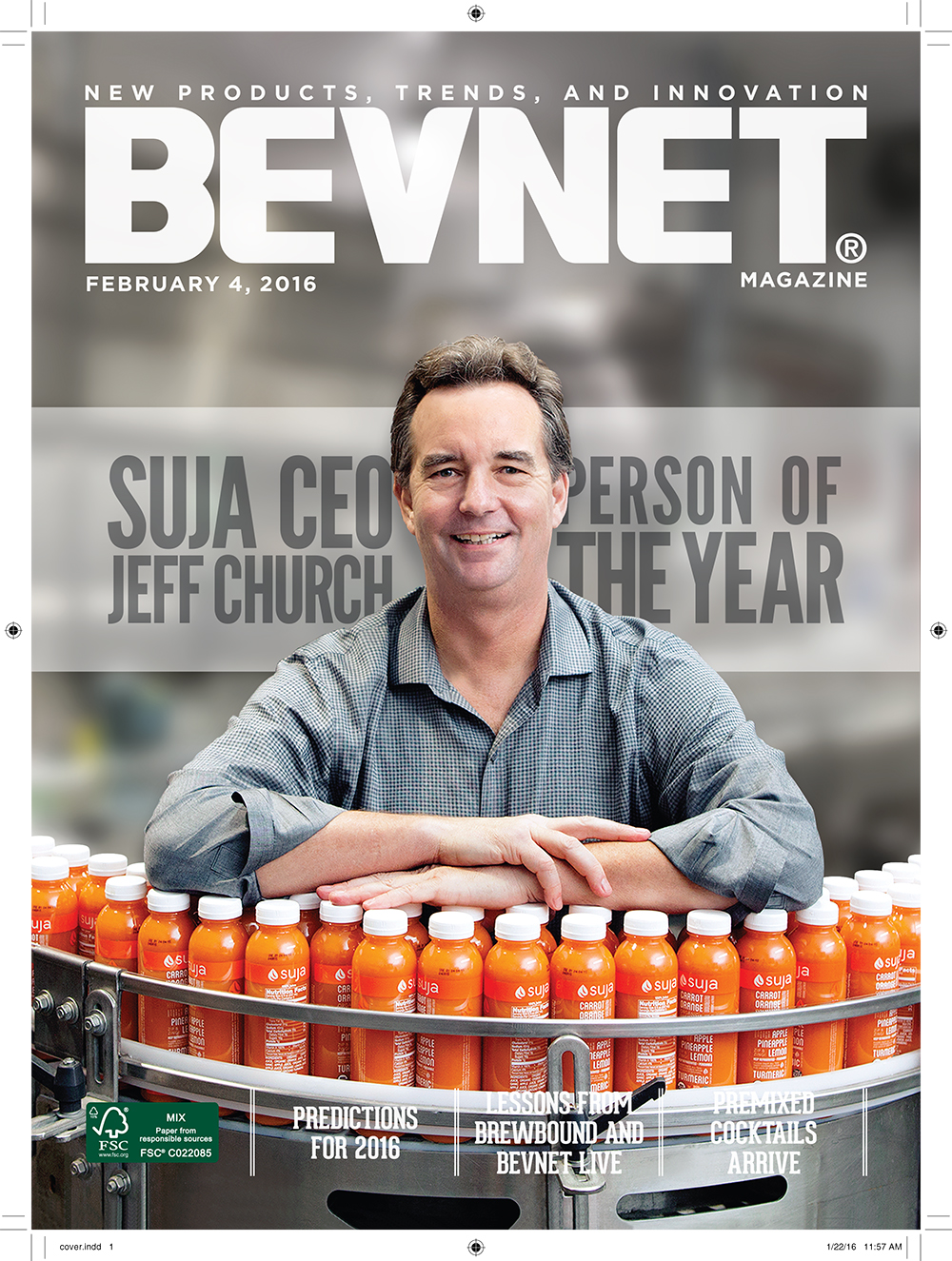 Suja CEO Jeff Church, BevNET's Person of the Year for 2015