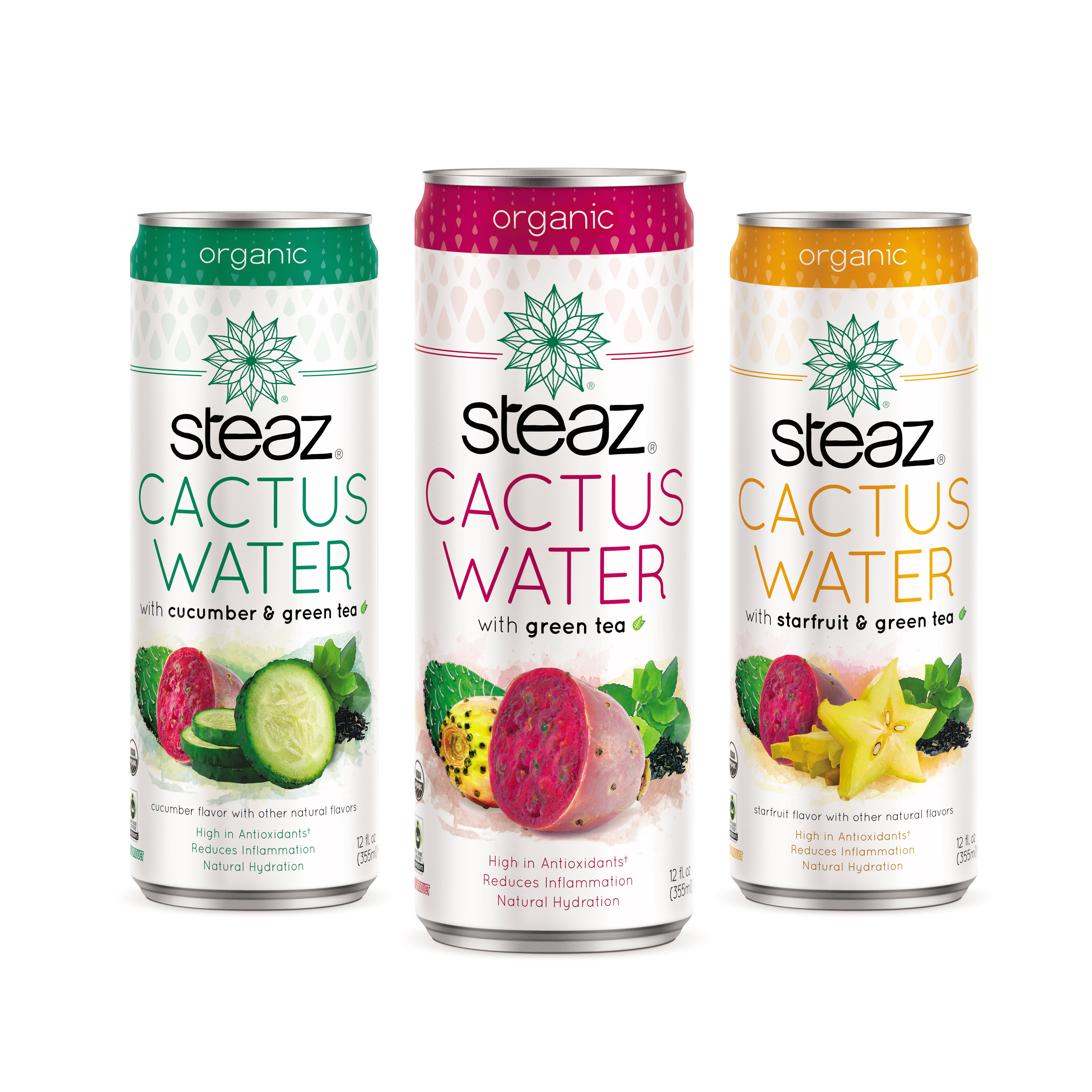 Steaz Blends Green Tea and Cactus Water For Newest Line Extension