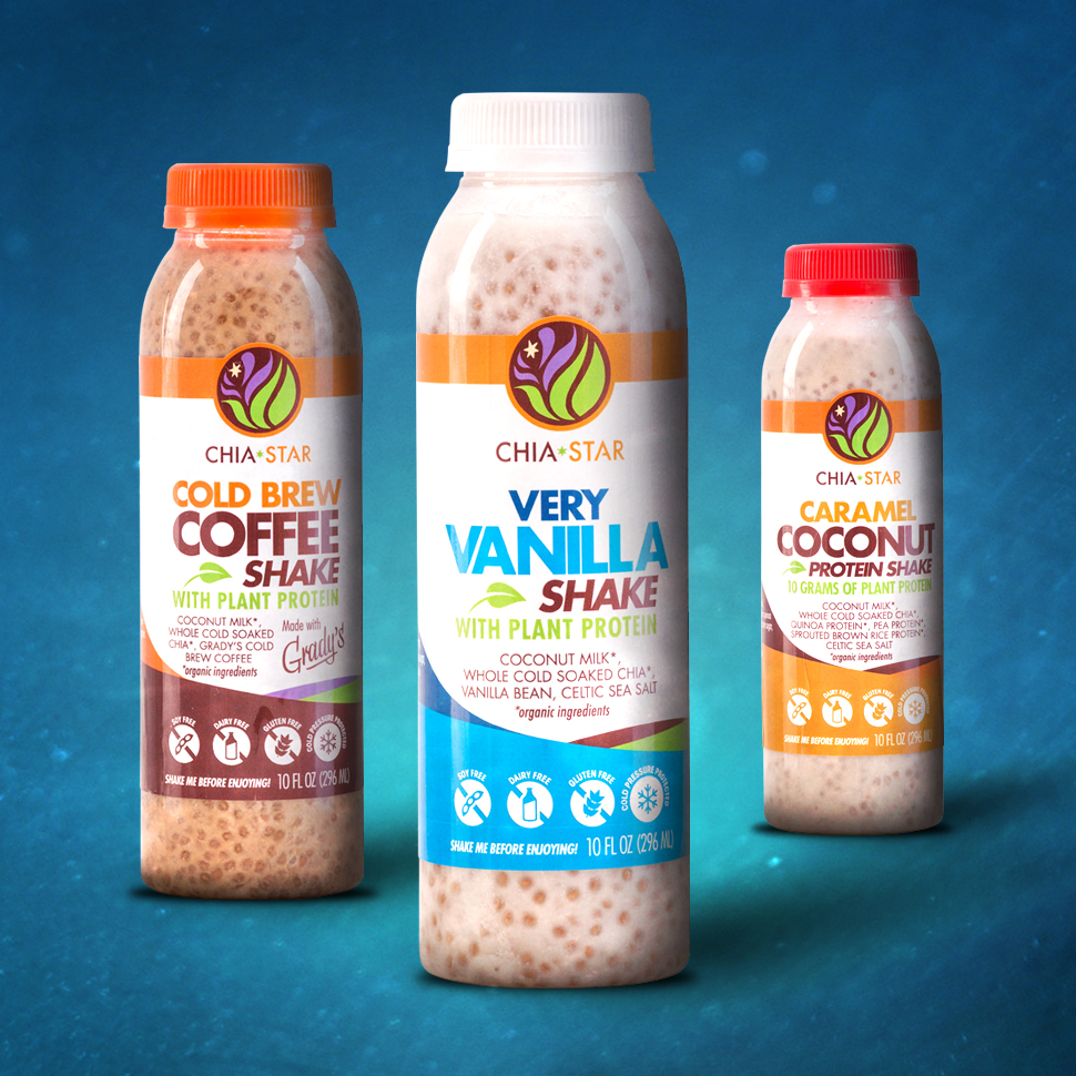 Chia Star Launches Line of HPP Coconut Milk Shakes, Unveils Brand Revamp