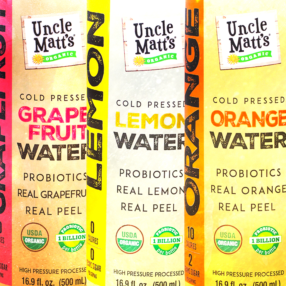 Uncle Matt's Launches Line of Probiotic Waters