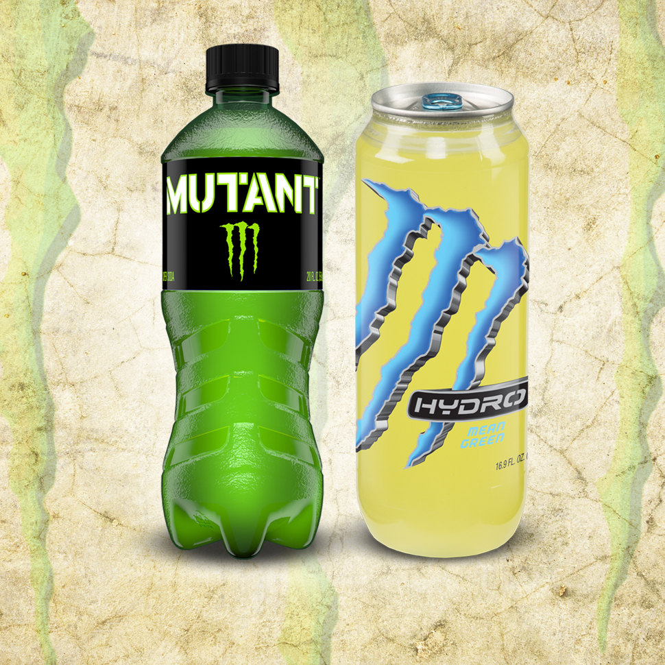 With mutant and hydro monster takes aim at mountain dew and mtn dew