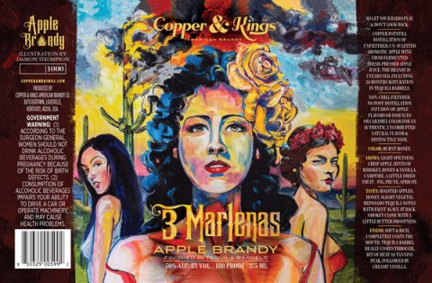 "Copper & Kings American Brandy Co. launches ""3 Marlenas"" tequila barrel aged apple brandy"