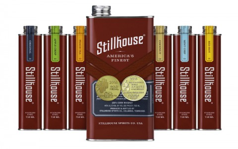 Stillhouse is an award-winning, 100% clear corn whiskey available in six expressions: Original, Apple Crisp, Peach Tea, Coconut, Mint Chip and Red Hot. (PRNewsFoto/Stillhouse Spirits Co.)