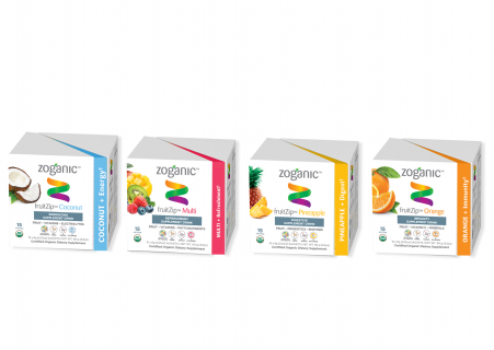 Zoganic Launches fruitZip™, a 100% Natural, True-to-the-Fruit Energy Supplement Beverage