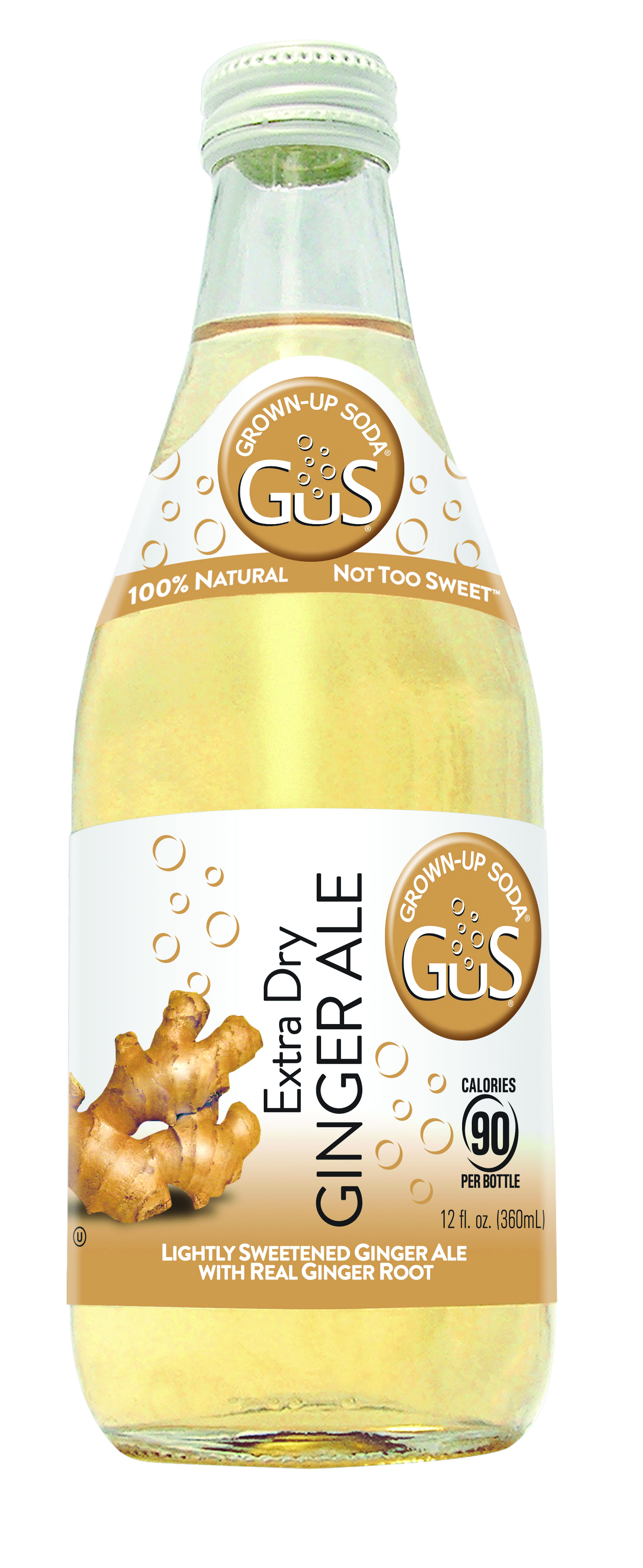 GuS Soda Ginger Ale bottle