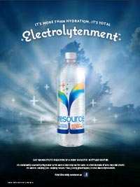 "Ad for Resource: They're Focusing on ""electrolytenment."""