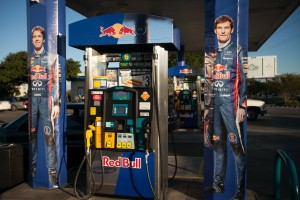 Red Bull Corner Store Takeover life size Seb and Webber