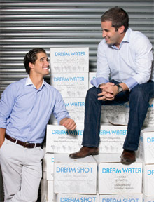 Porpiglia and Lekach during their Entrepreneur photo shoot