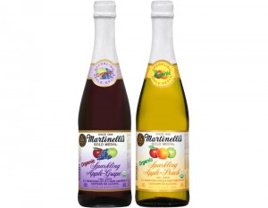 S. MARTINELLI & COMPANY SPARKLING ORGANIC APPLE-GRAPE AND SPARKLING ORGANIC APPLE-PEACH