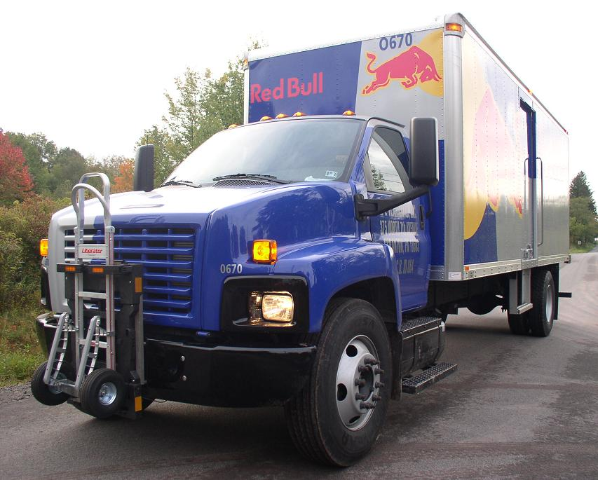 Red Bull trucks will soon stock evian water.