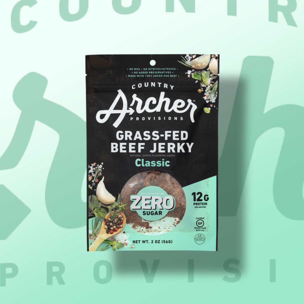 Country Archer Provisions Zero Sugar Beef Jerky
