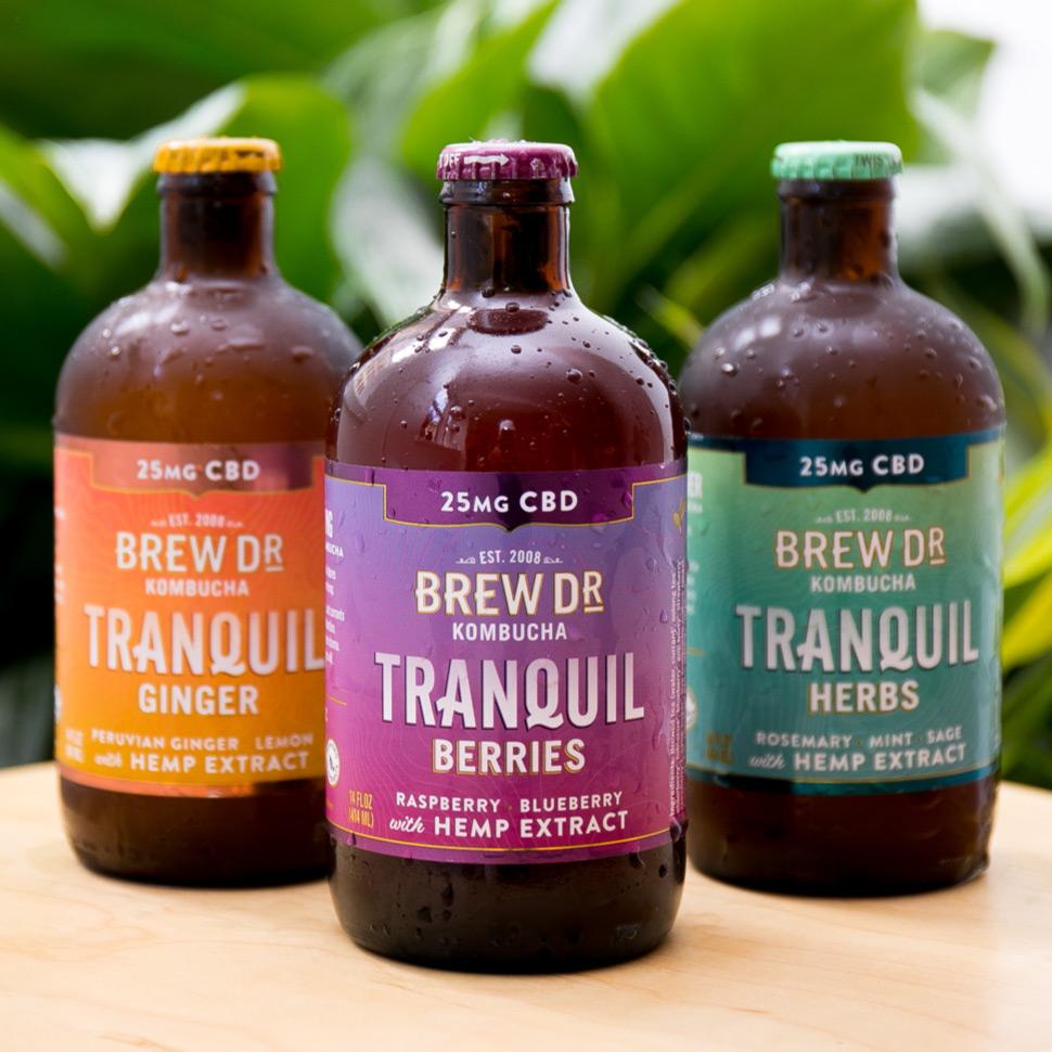 Brew Dr. Kombucha Tranquil with CBD