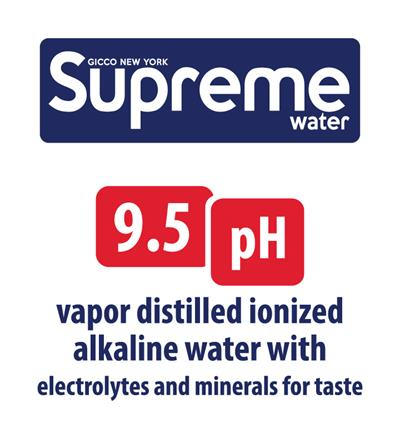 Gicco New York Supreme Water / Ionized Alkaline 9.5 pH