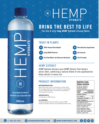 Hemp Hydrate, Vigorate 10MG CBD Water, Aloha Alkaline seeks Distributors