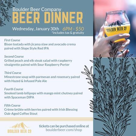 January Beer Dinner