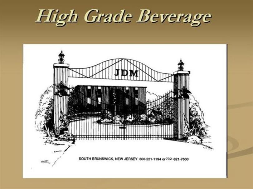 Beer wholesaler sales person - High Grade Beverage is a NJ wholesaler of beer.