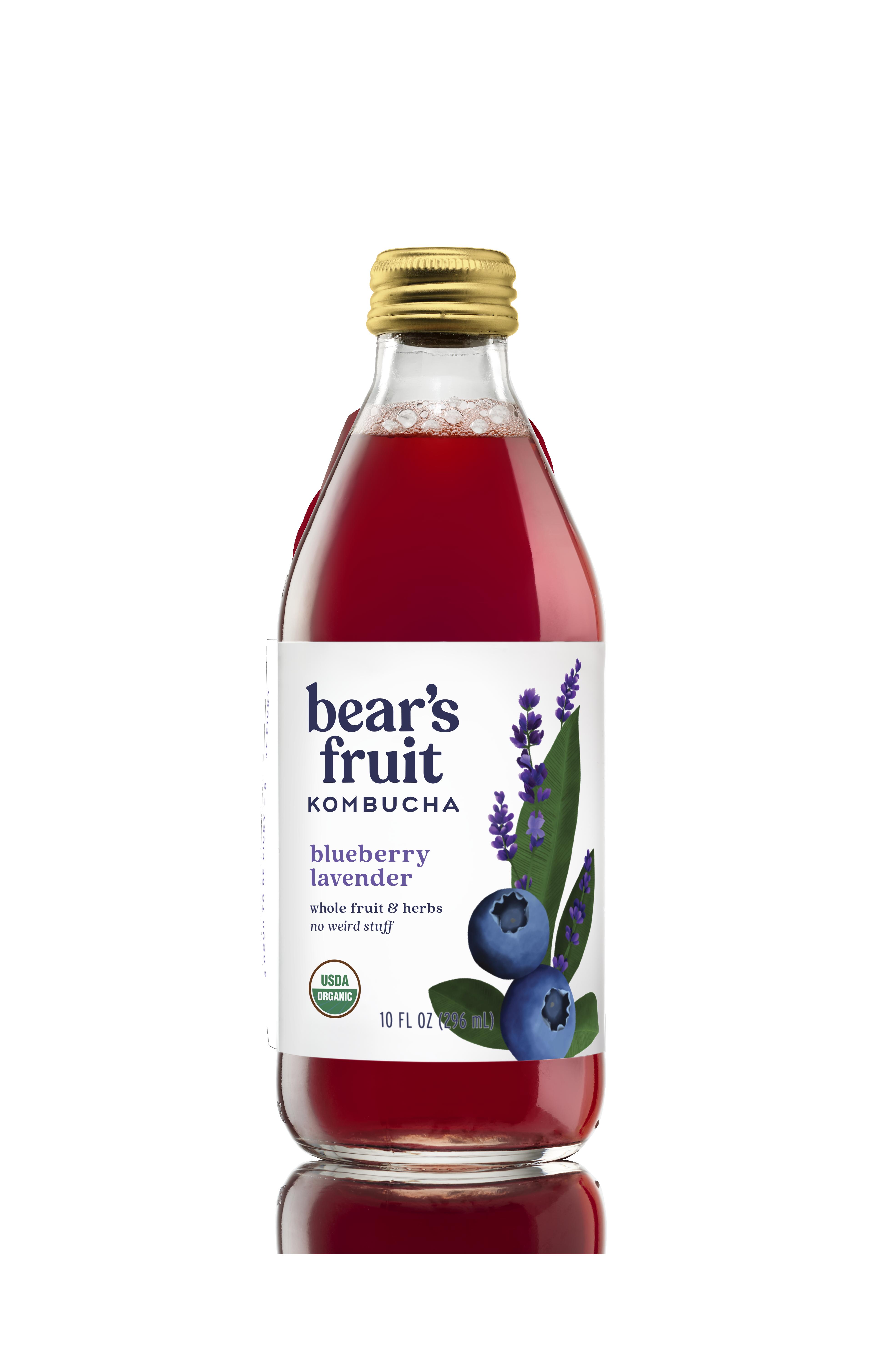 Bear's Fruit Organic Blueberry Lavender Kombucha