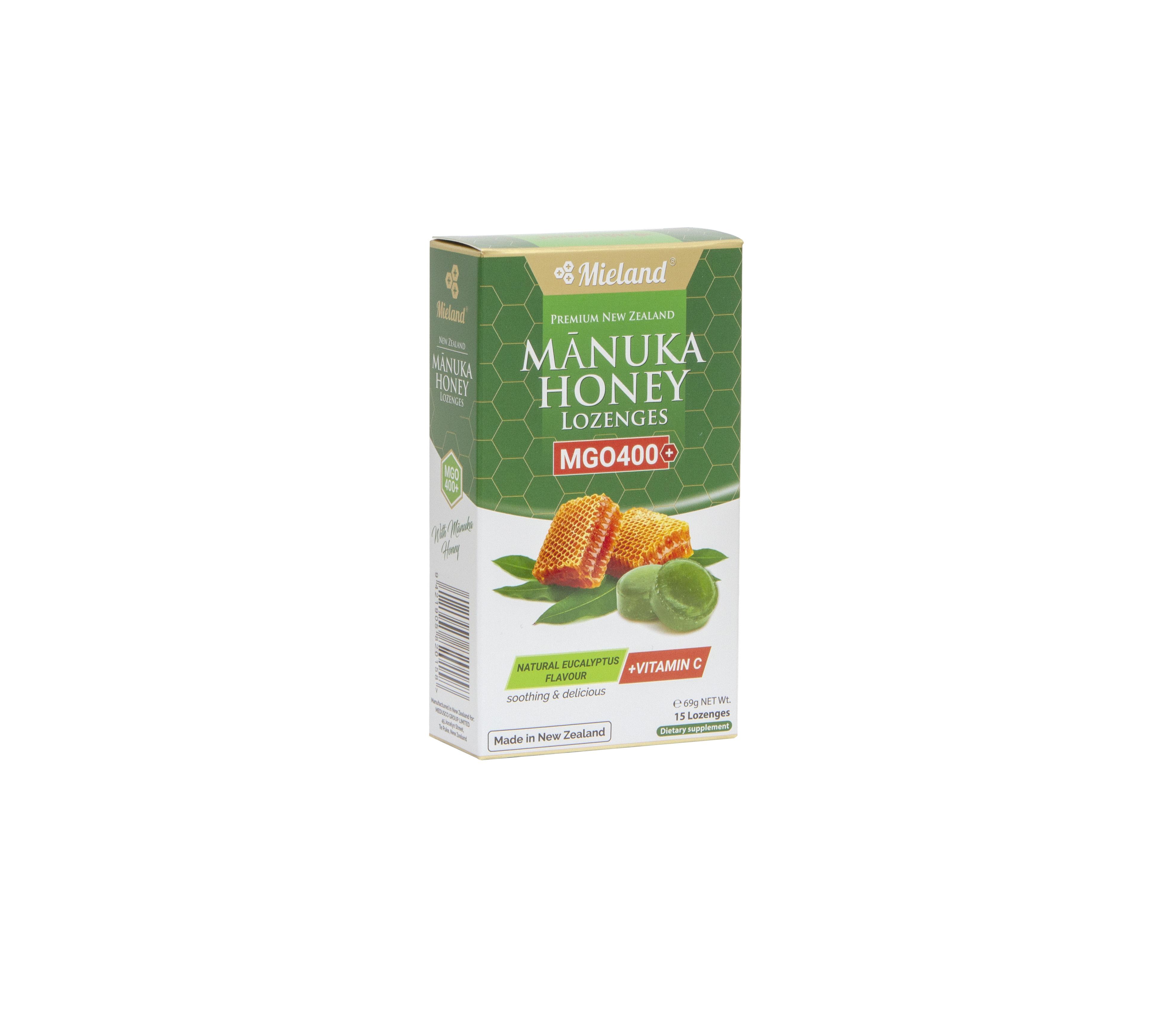 Manuka Honey Lozenges with Eucalyptus flavour