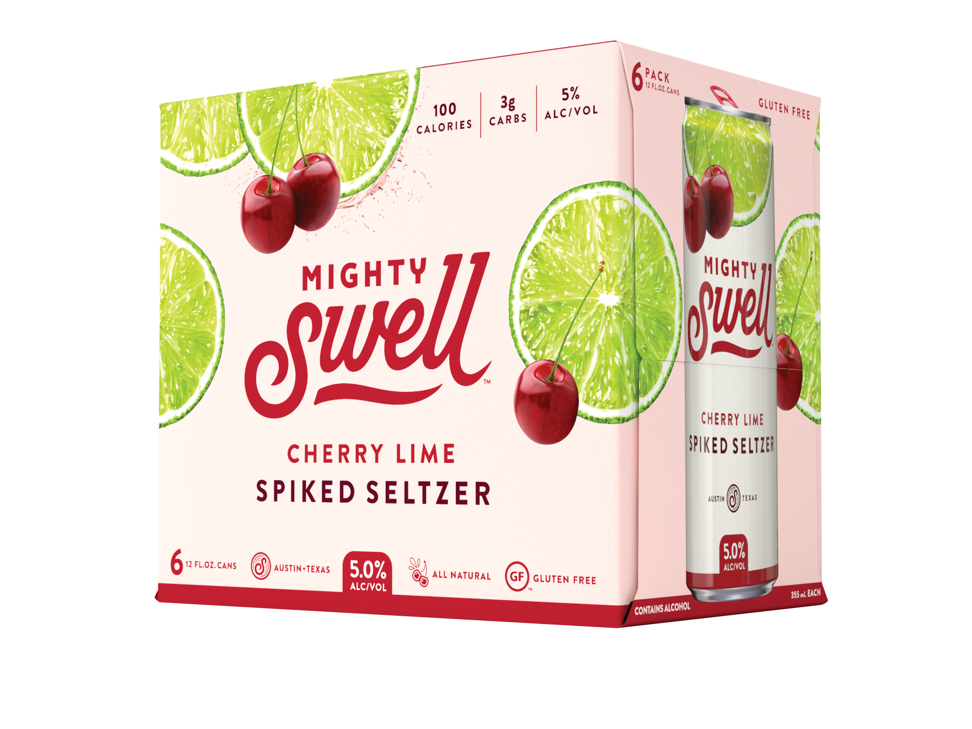 Mighty Swell Cherry Lime Spiked Seltzer | 6 Pack