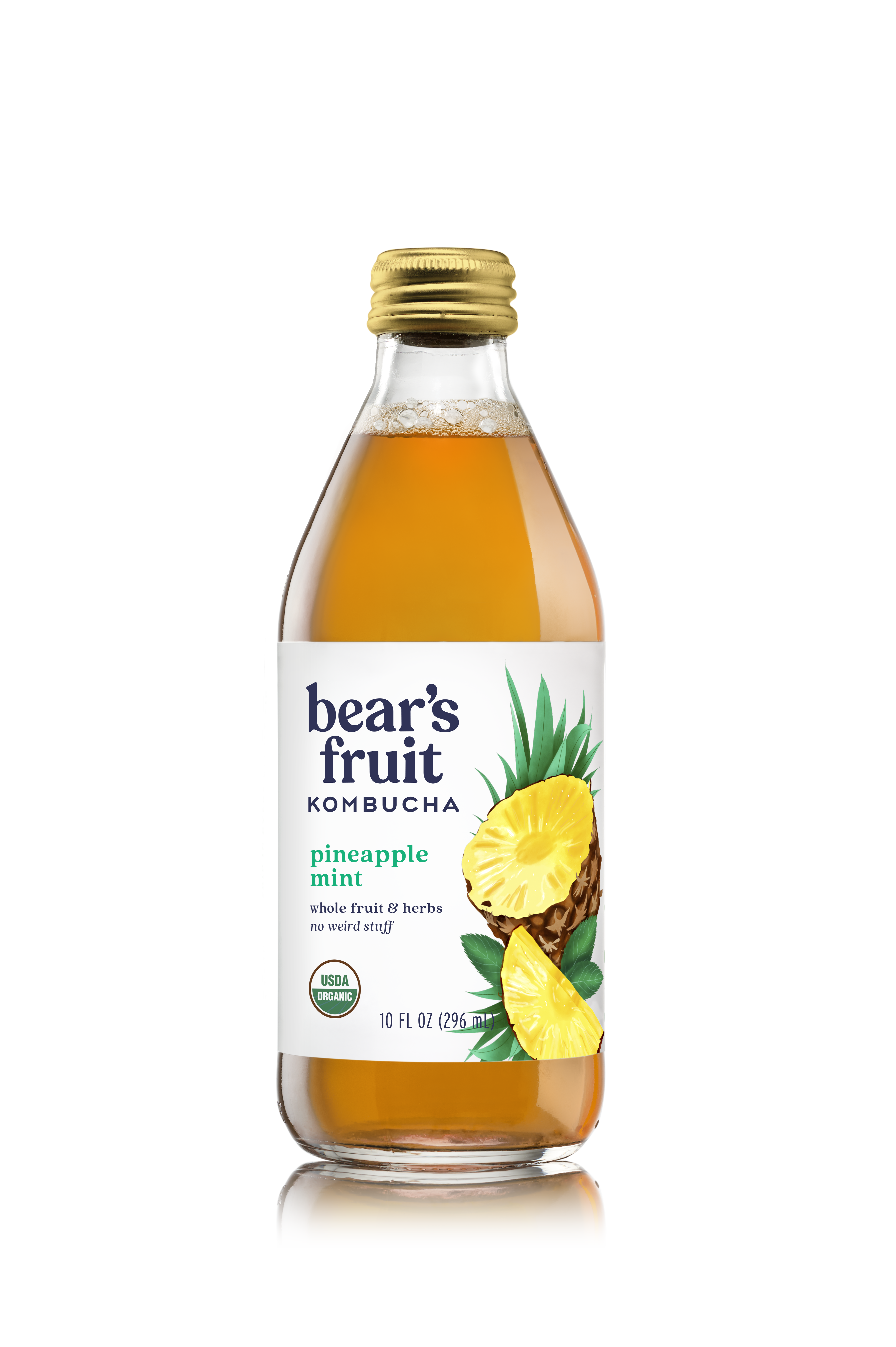 Bear's Fruit Organic Pineapple Mint Kombucha