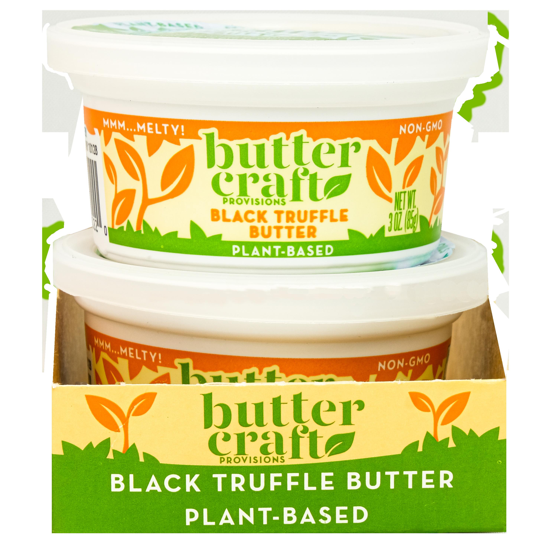 Plant-based Black Truffle Butter in Shelf Ready Sleeve