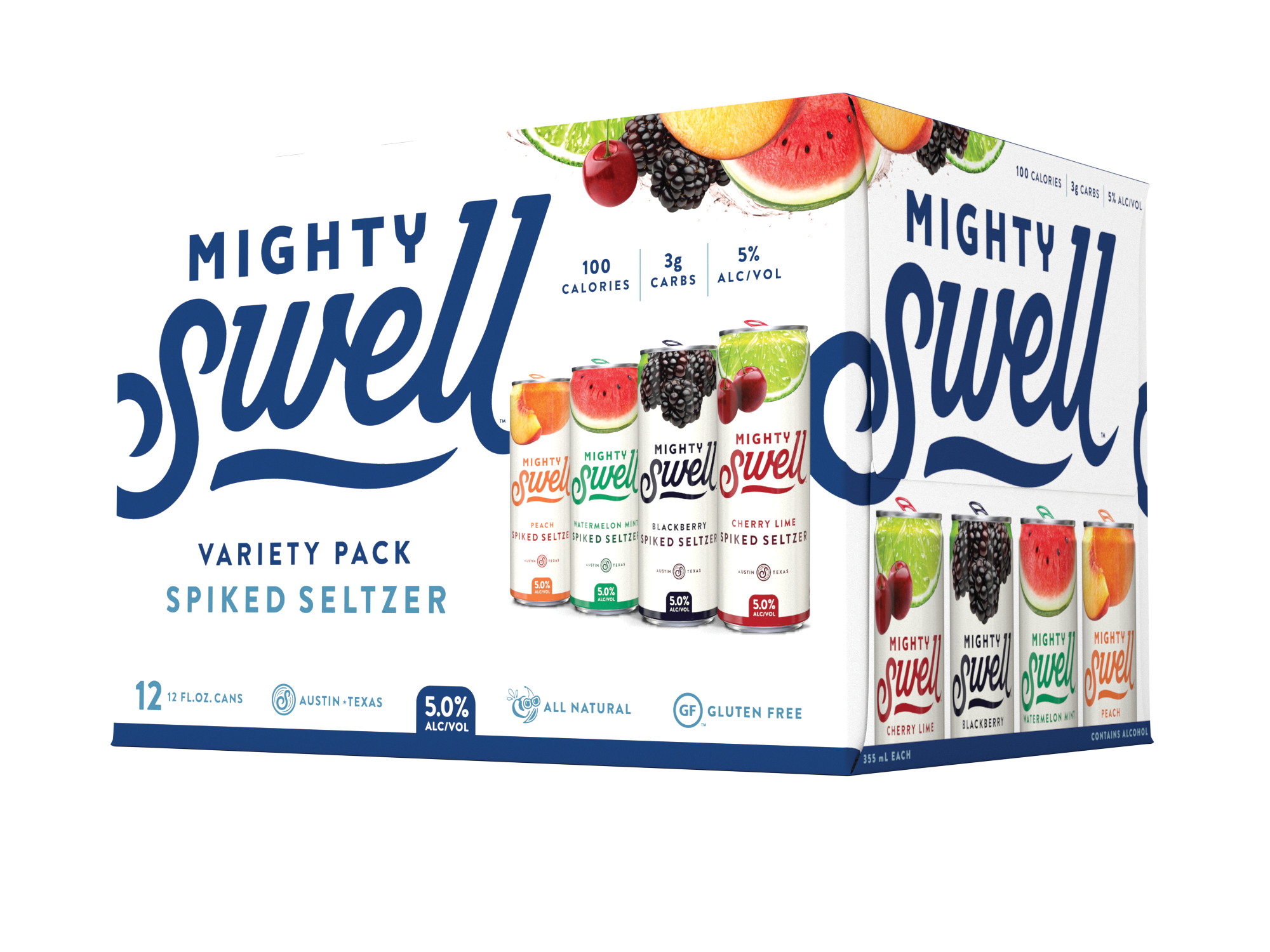 Mighty Swell Spiked Seltzer | Variety 12 Pack