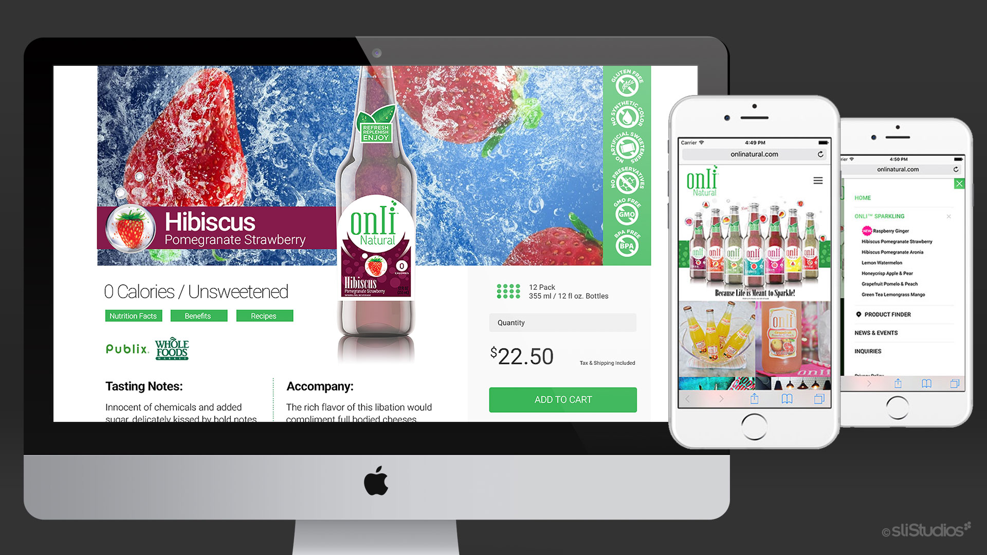Onli Natural Website Design