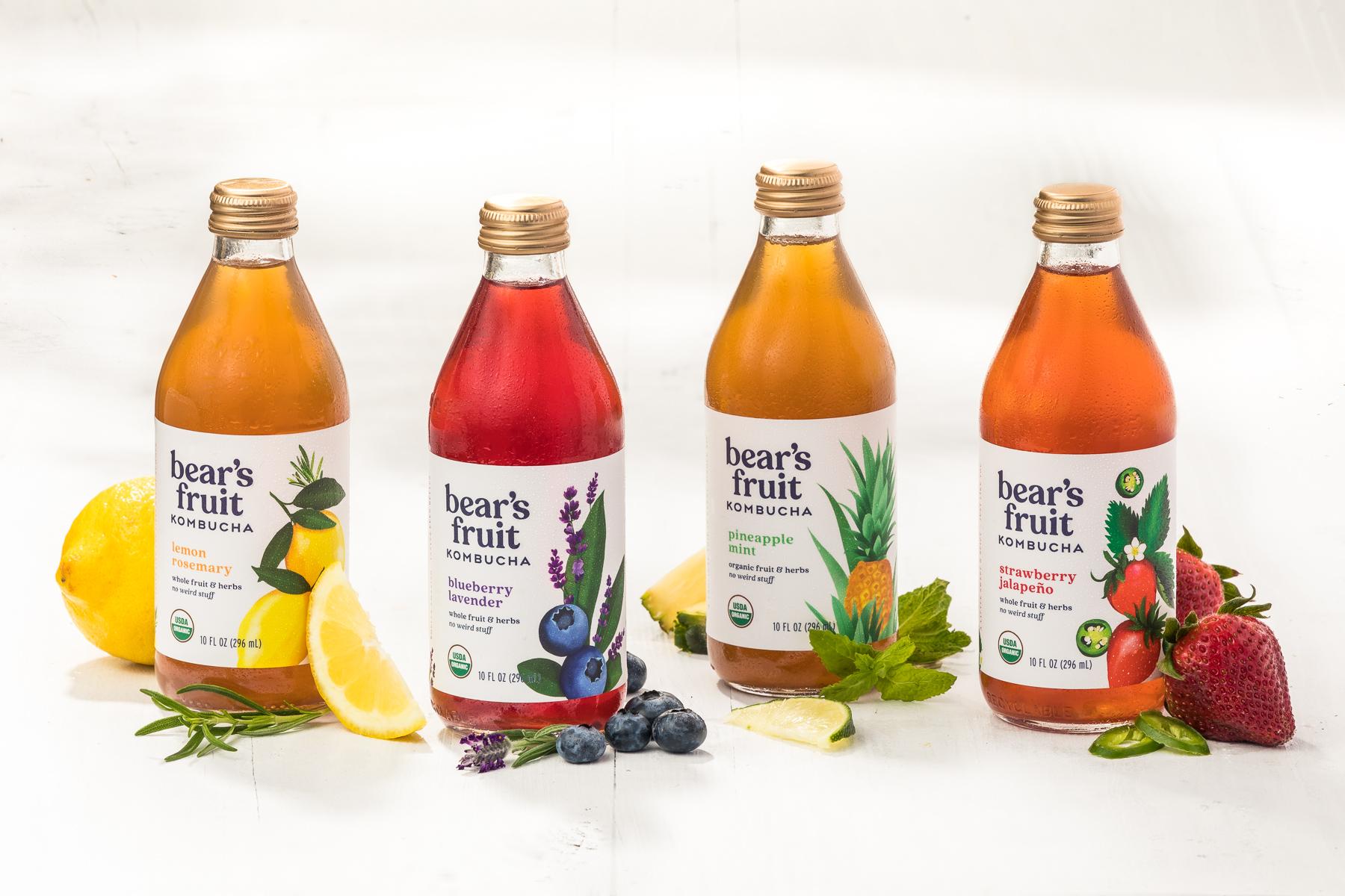 Bear's Fruit Organic Kombucha - 4 SKUs