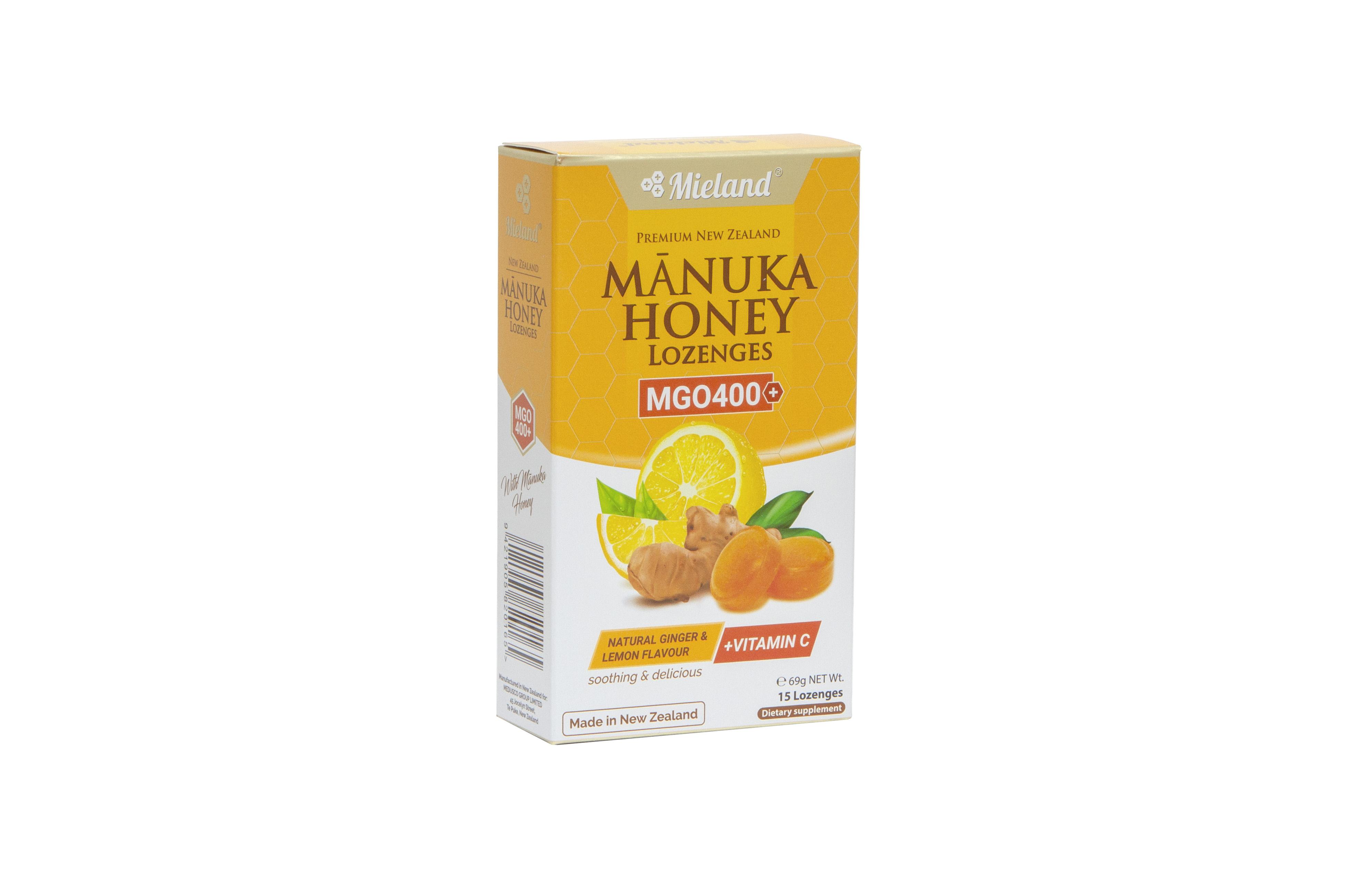 Manuka Honey Lozenges with Ginger & Lemon flavour