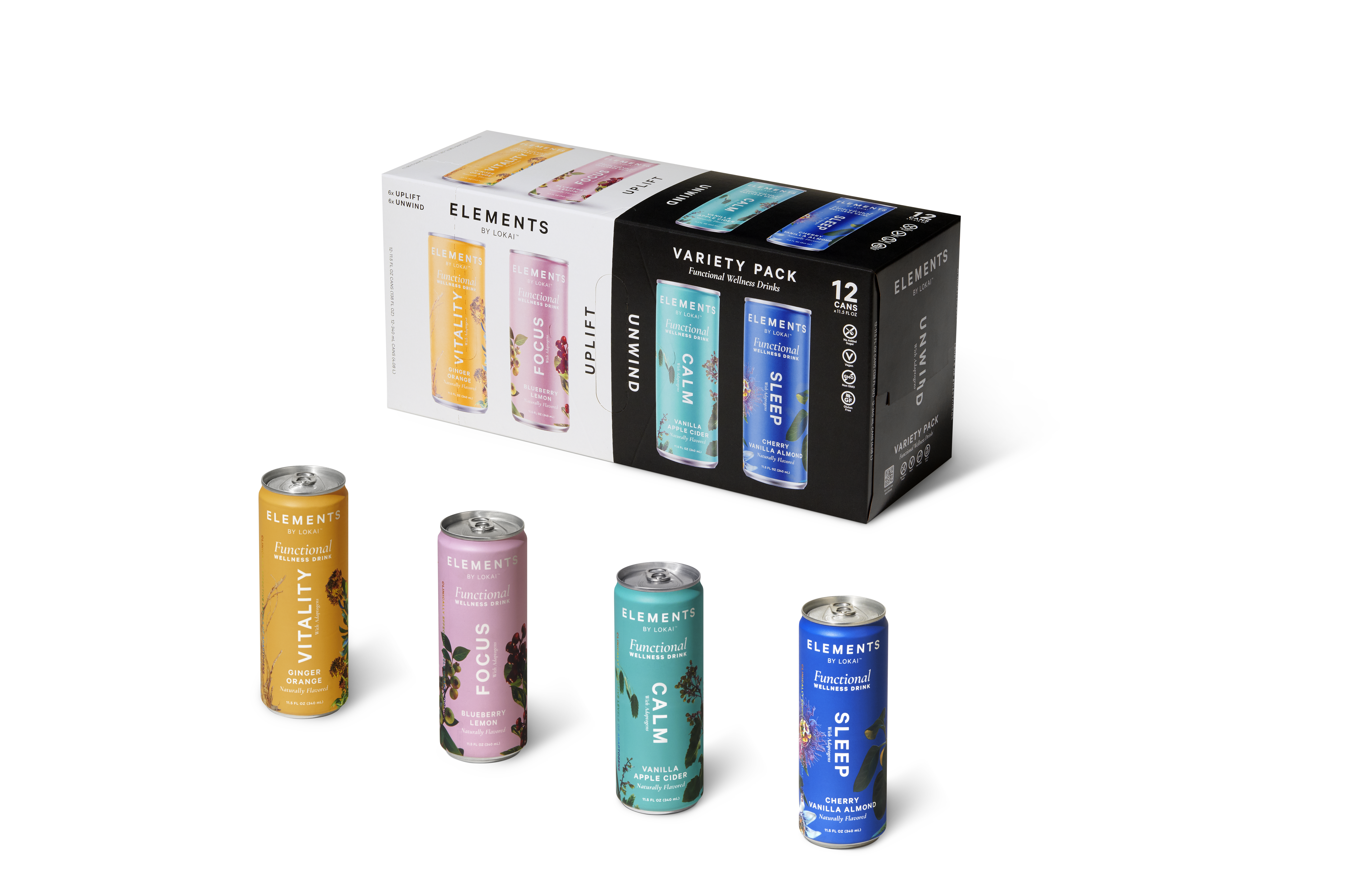 Elements Drinks - Sampler 12 pack
