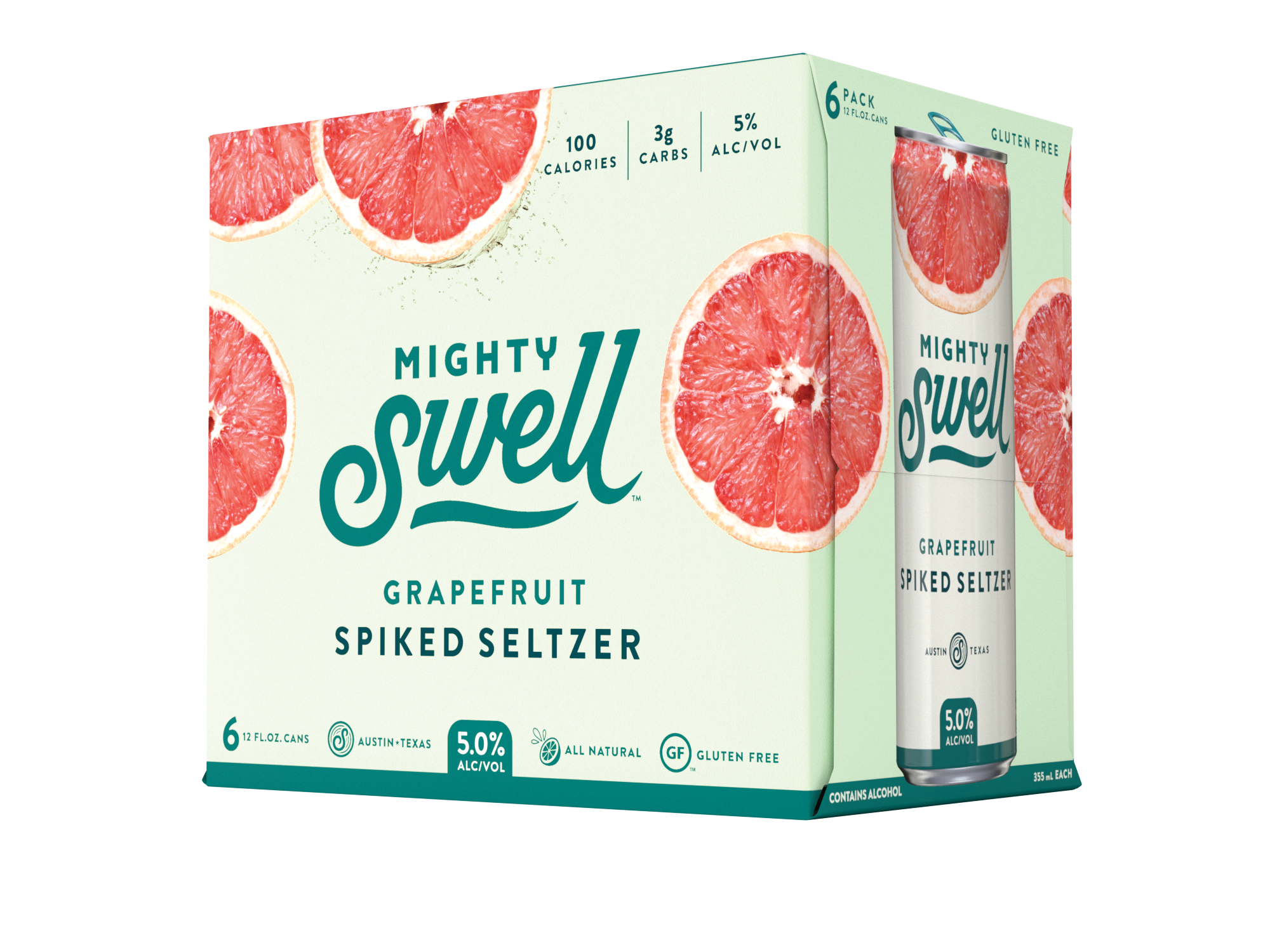 Mighty Swell Grapefruit Spiked Seltzer | 6 Pack