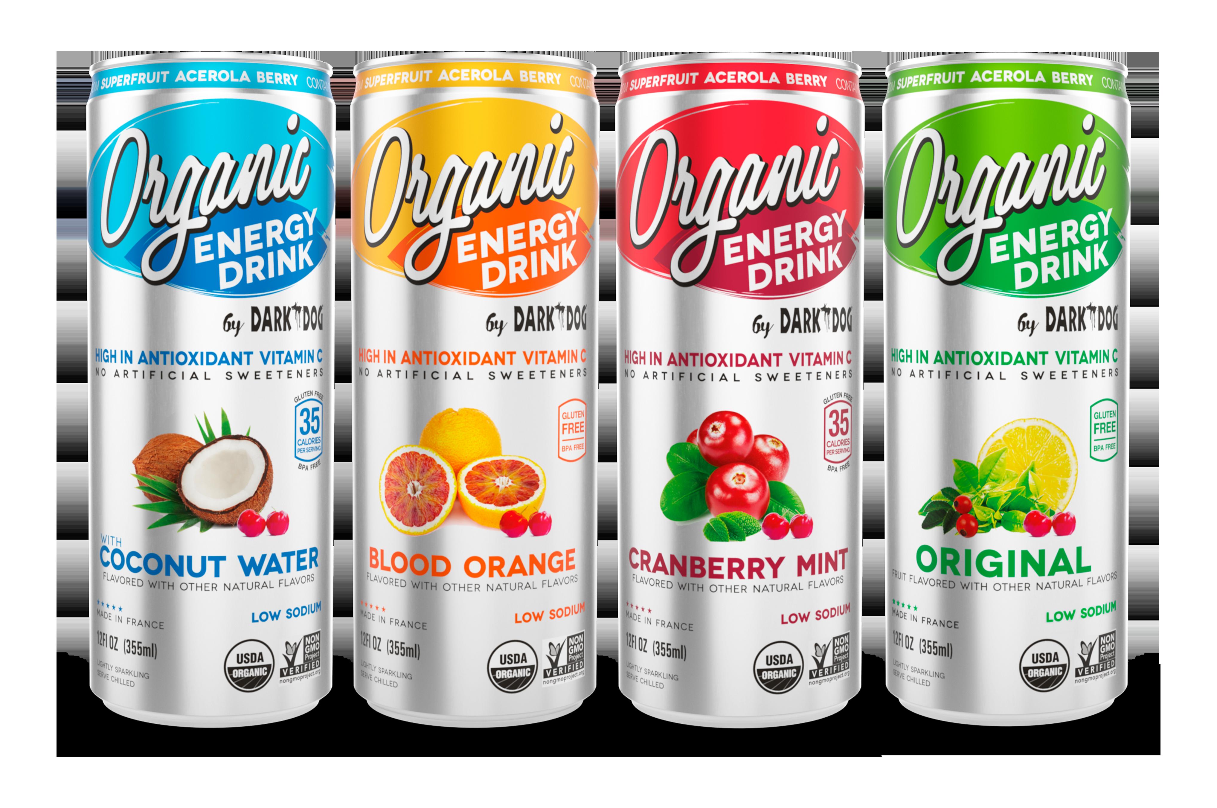 DARK DOG ORGANIC ENERGY DRINK LINE