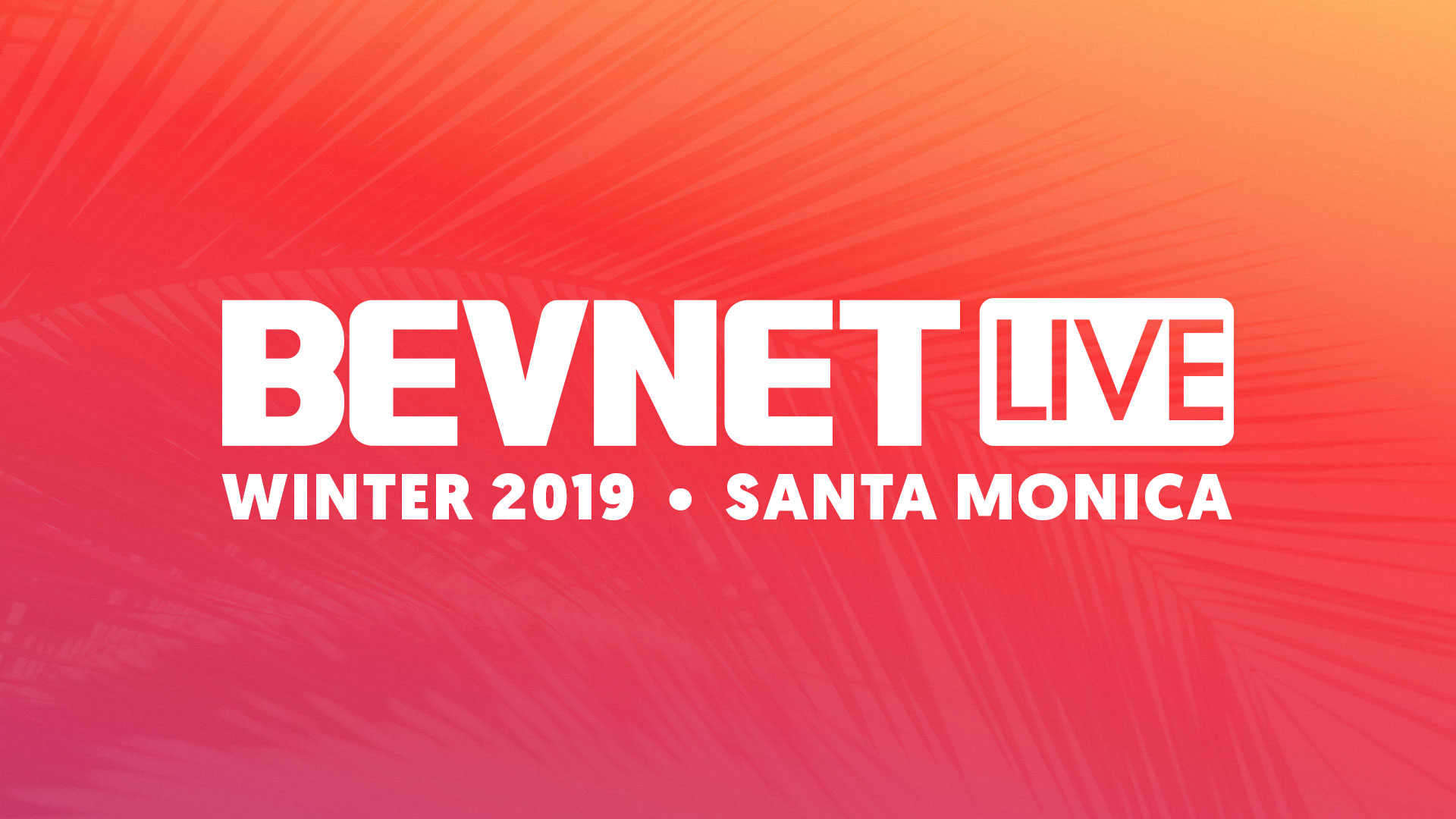 BevNET Live Winter 2019: Livestream Studio