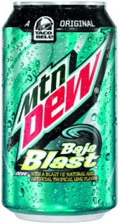Dew announced today that for the first time mtn dew baja blast