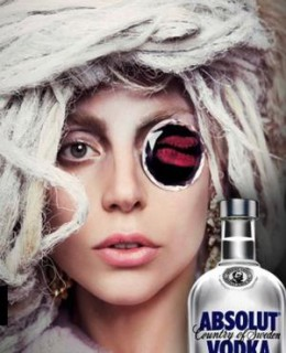Absolut Vodka and Lady Gaga