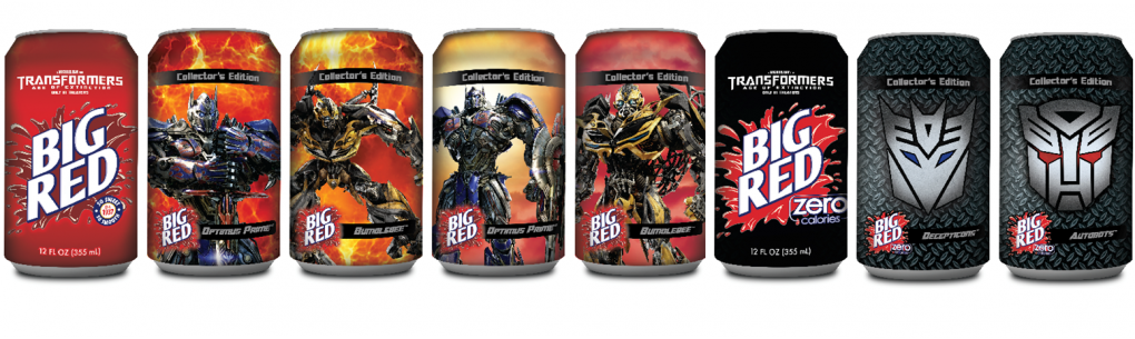 Big Red Features Limited-Edition Transformers-Themed Cans