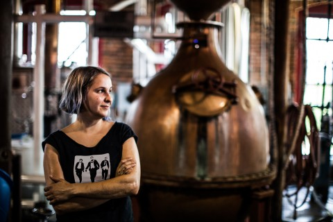 Andrea Clodfelter as Head Distiller of Corsair Nashville Facility