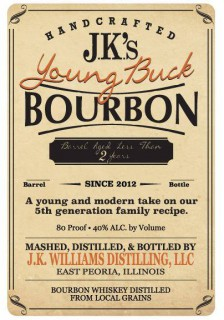 Central Illinois Craft Whiskey Distillery Releases 'Young Buck Bourbon'