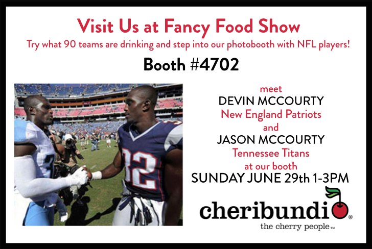 NFL Stars Devin and Jason McCourty to Appear at Cheribundi Booth at 2014 Summer Fancy Food Show